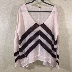Free People Twelve Rose Chevron Sweater